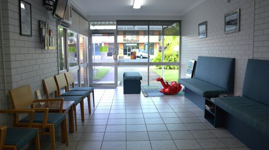 Waiting area in medical centre