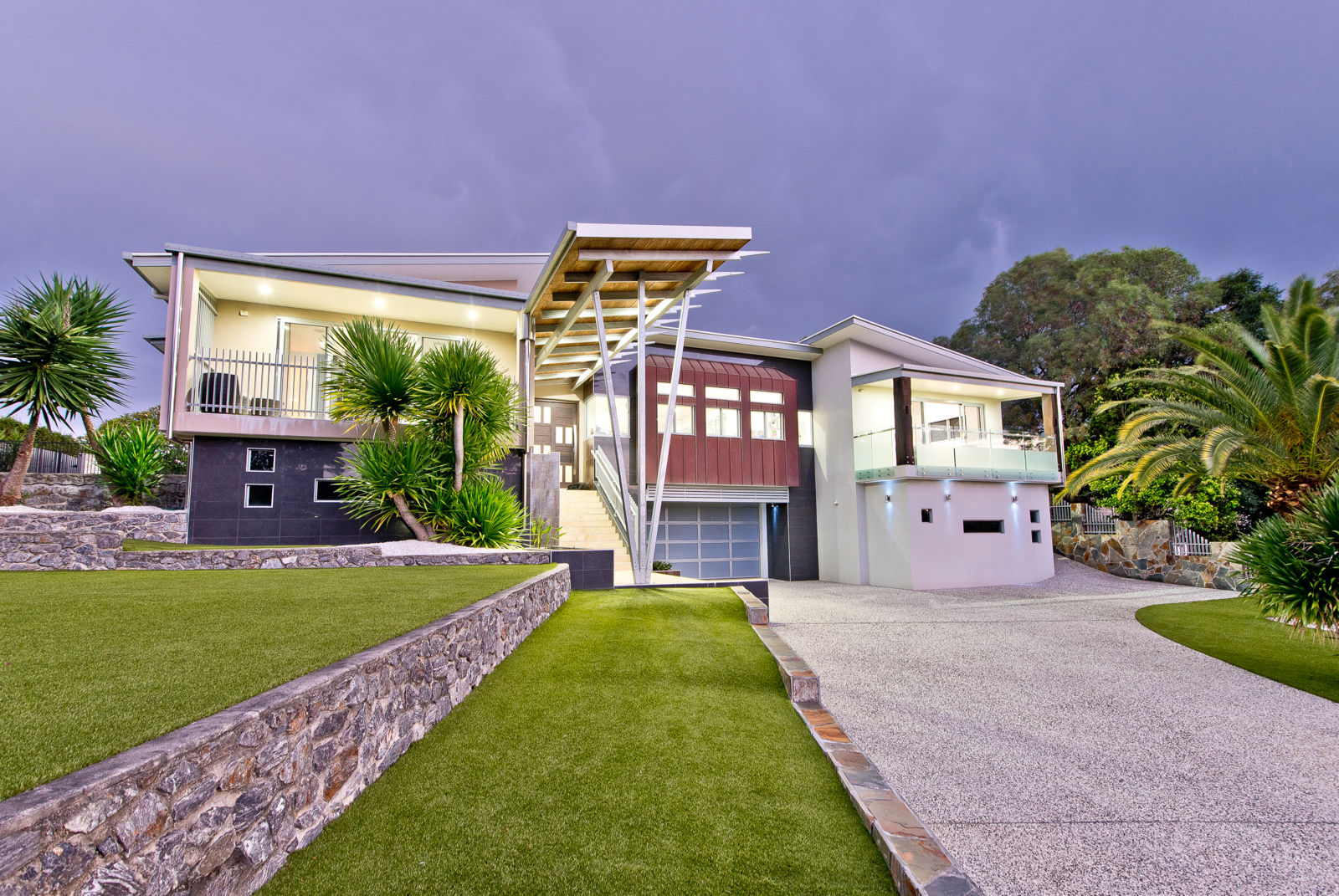 HILLTOP CONTEMPORARY WITH CITY VIEWS AND YOUR OWN BOWLING ALLEY