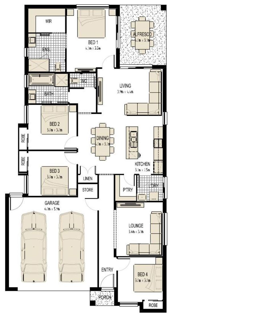 FLOOR PLAN IS FOR ILLUSTRATION PURPOSES ONLY