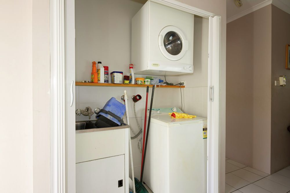 Laundry facilities for this apartment