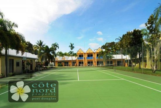 Unit overlooks tennis court and has a sunny aspect
